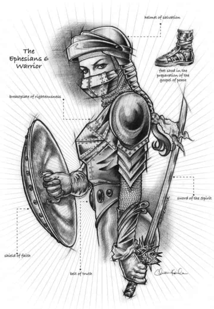 woman in armor of God