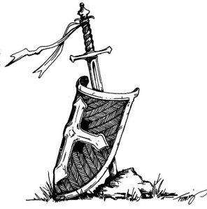 shield of faith with a sword of the armor of God