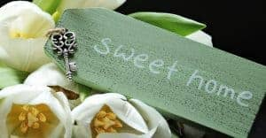 green sweet home sign