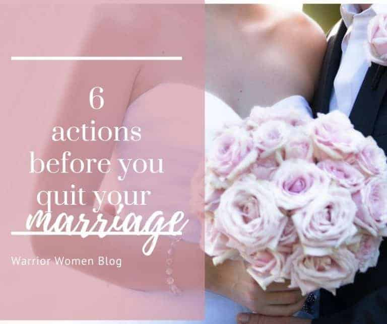 Marriage – 6 things to do when you feel like giving up