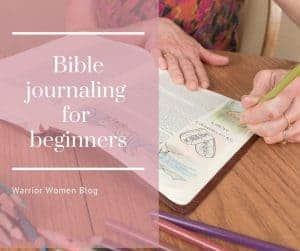hands of an older woman journaling in her Bible