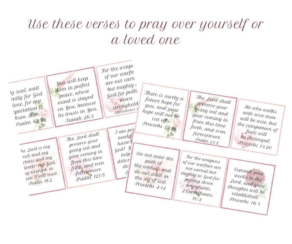 About Me page printable Bible Verses