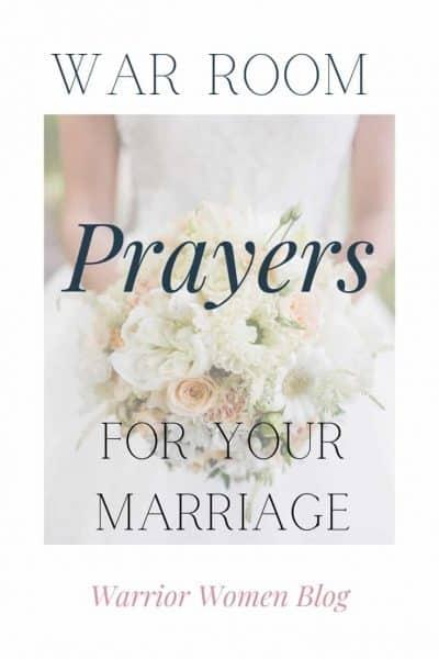 Warrior Women Blog | War Room Prayer for your Marriage