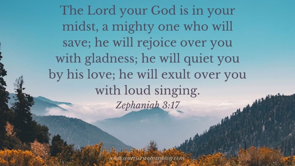 Zephaniah 3:17 Bible Verse with mountains
