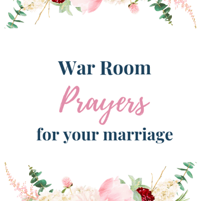 War room prayers for your marriage