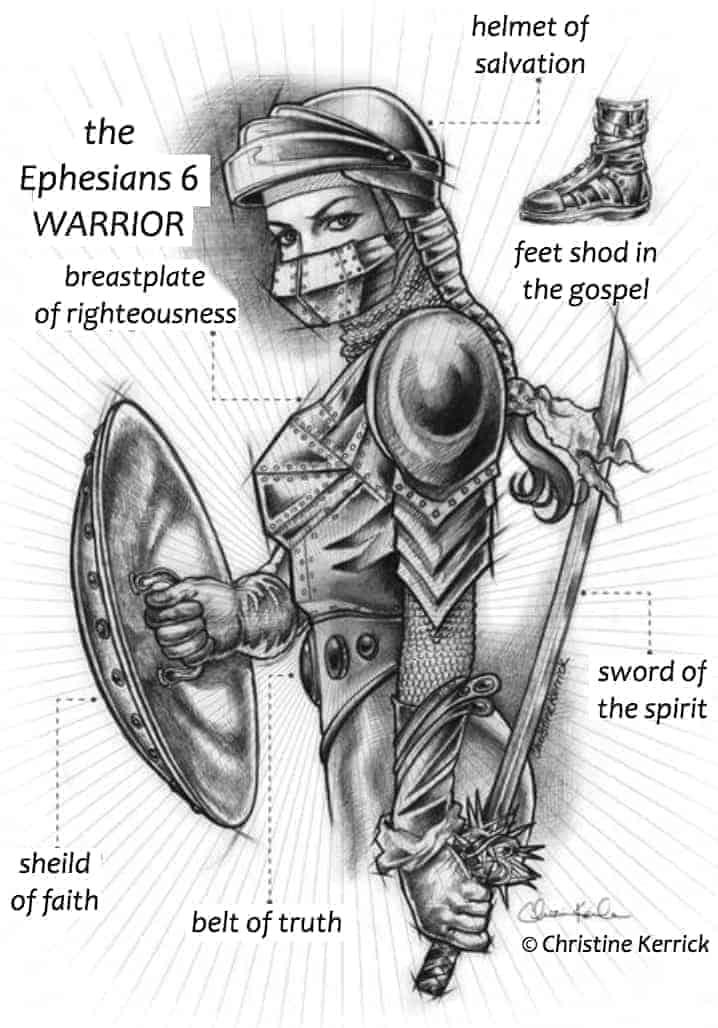 armor of God on a woman